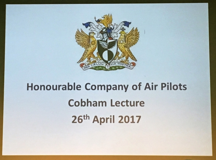 Air Pilots Cobham Lecture, Royal Aeronautical Society