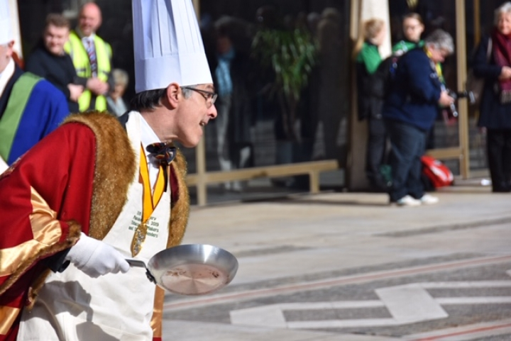 The Worshipful Company of Poulters' Inter Livery Pancake Races 2018