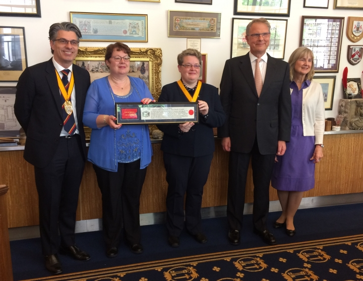 Freedom of the City of London for Susan Stocker
